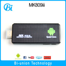 Hot selling Android 4.4 RK3188T quad core MK809III Smart TV BOX 2G+16G MK809III smart media player