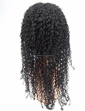 Black Lady full lace wig 100% Top Quality Unique Short Afro Curly Lace Human Hair Wigs