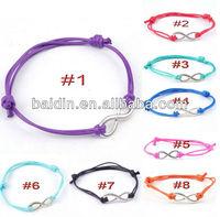 retailer 120pcs mixed color wholesale hot 8 infinity bracelet