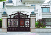 Luxury Quality Guarantee Design Customized Aluminum Alloy Garden Gate with motor