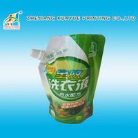 Liquid Laundry Detergent Packing Spout Pouch ,Best-Selling Reusable Fabric Wash Spout Pouch,Plastic Bag Packaging