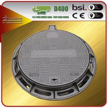 Heavy Duty Round Ductile Iron Manhole Cover D400 EN124 For Sale