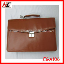 custom brown leather briefcases bag for men