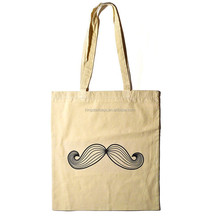 Lovely moustache cotton tote bag