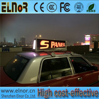 Shenzhen Elnor P6 outdoor led panel mobile taxi led display board