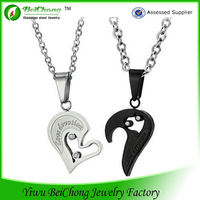 Korean Love Style His & Hers Matching Set Cute Couple Pendant
