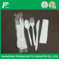 Desechables biodegradables cubiertos de plástico para de comida rápida