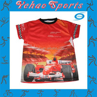 custom sublimation racing t shirt for fans wear