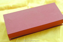 Special open texture paper red fancy paper packaging box