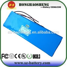 Long life cycle rechargeable lithium ion battery 48v 20ah Golf trolley/Golf car battery pack 12s10p