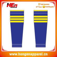 2015 china hot sale soft striped ice hockey socks/comforable hockey socks