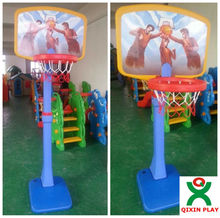 2013 hot sale plastic basketball stand for kids/adjustable height QX-B3908