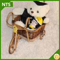 Rattan Bicycle Basket for Child Toy