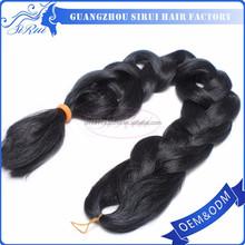 High quaity heat safe xpression braiding hair, 100 kanekalon jumbo braid synthetic hair, synthetic braiding hair