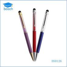 Novelty touch custom clip pen, crystal stylus pen