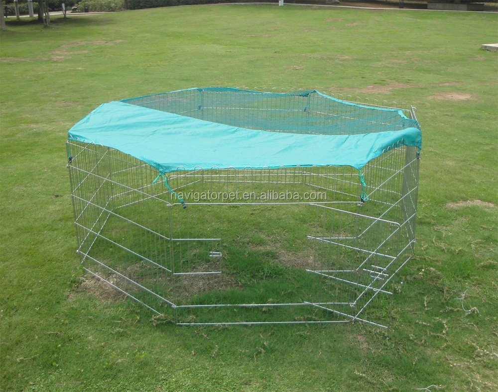 Metal Pet Playpen with cover