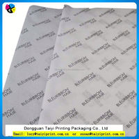 Custom logo printed thin tissue wrapping paper