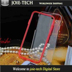 case for iphone 6 two-pieces set clear transparent back cover and reovable frame case
