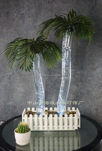 Table top Lucky Bubble coconut palm with LED light