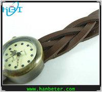 Hot selling vintage new waterproof luxury fashion leather wrap bracelet watch