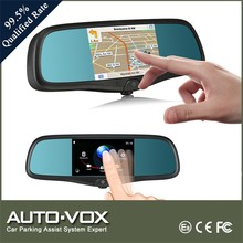 5 inch touch screen rear view mirror camera gps