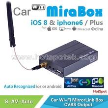 Universal auto use mirabox(Android & IOS 8)mirrorlink car music mp3 mp4 audio media player / car radio 2-din android gps
