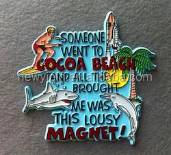 custom manufacturer fridge magnet / metal , pvc, Coated paper fridge magnet
