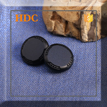 Fashion fancy craft custom made metal black snap buttons