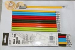 7 Inches HB Pencil With Eraser In Color Box Packing/ Lead Standard Pencil With White Erase Hexagonal Shape Bass Wood
