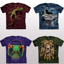 TEMPY wholesale and custom design casual style tie dyed 3d t-shirts men