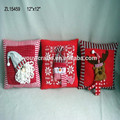 Comprar directamente desde la fábrica de china 12''*12'' hecho a mano cojín de navidad