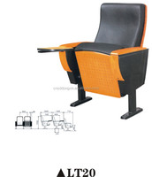 Hot sale conference hall chair with writing tablet and covers LT20