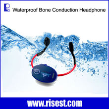 Outdoor Waterproof Bone Conduction Headset and FM Transmitter for Swimmer