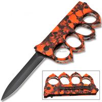 "9""color aluminum handle stainless steel folding pocket Hunting Knife"