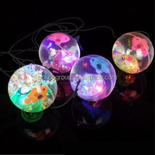 China hot new products for 2015 factory new clear led light up water high bouncing ball toy