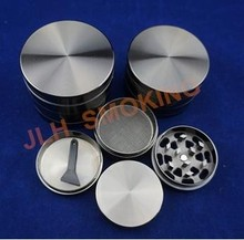 [JLH]4 Parts Chromium Crusher Herb Grinder, Heavier & Stronger Zink Alloy Grinders with Beautiful Polished Chrome Finished.
