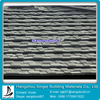 ISO9001 Black Stone Coated Aluminum Asphalt Roofing Sheets Per Price