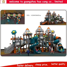 China Supplier Newest big tunnel fiber glass plastic tunnel slide/Outdoor Playground Plastic Slide/Outdoor Playground castle pla