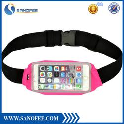 Hot multi-function running waist bag anti-theft money & waterproof waist belt bag sports running belt bag