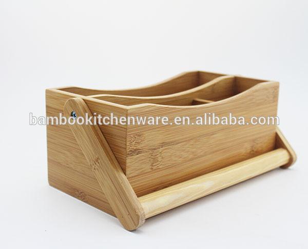 de bambú cocina herramienta carrito de compra