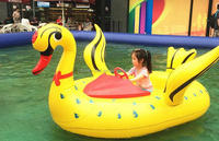 Water Battery Operated Inflatable Kids Electric Bumper Boats For Sale