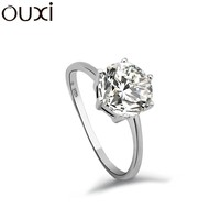 wholesale jewelry zircon stone with crystal 925 sterling silver rings Y70011