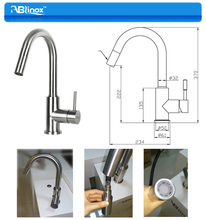 304 stainless steel pull out casting water faucet