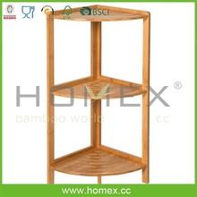 3 Tier Bamboo Corner Shelf /Fancy Shelf Corner Collection In Bamboo Material/Houseware Furniture/Homex_FSC/BSCI