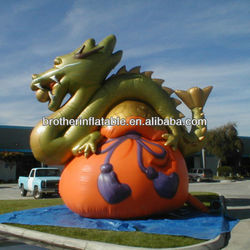 Hot Exhibition Inflatable Giant Green Dragon