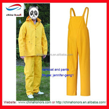 industrial rain coat/Yellow industry traffic PVC rain coat