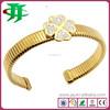 America new style wholesale stainless steel jewelry cuff link flower bracelets