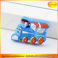 Cute Bus Soft Silicone Rubber Furniture Knob Cartoon Knob Kids Handles