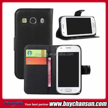 PU wallet flip leather case for Samsung Galaxy ace style LTE G357