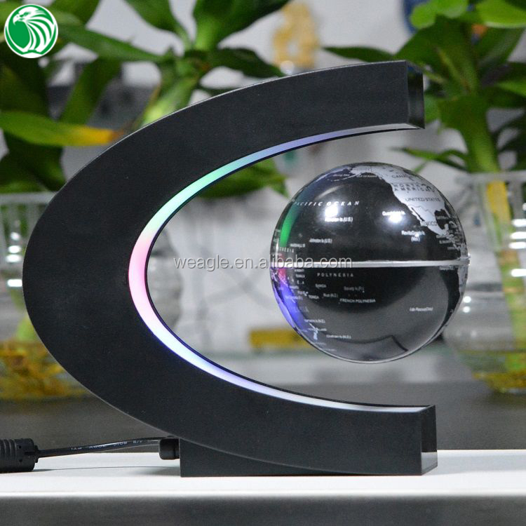 Haut de gamme cadeau C forme base 3 polegada magnétique suspendu globe
